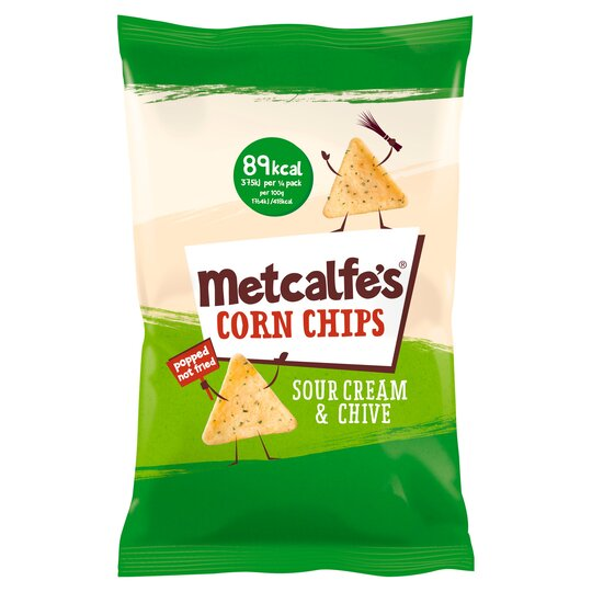 Metcalfe's Corn Chip Sour Cream & Chive 85G