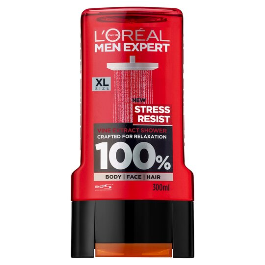 image 1 of L'oreal Men Stress Resist Shower Gel 300Ml