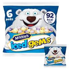 image 2 of Mcvities Iced Gems 6X23g