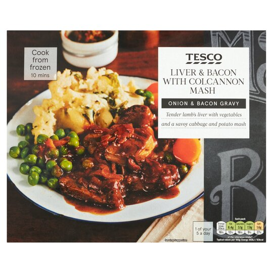 Tesco Liver & Bacon With Colcannon Mash 400G