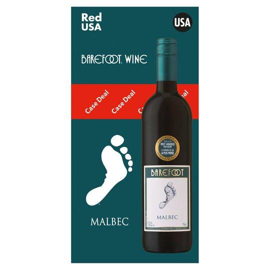 Barefoot Malbec 4X75cl Case Deal - Tesco Groceries