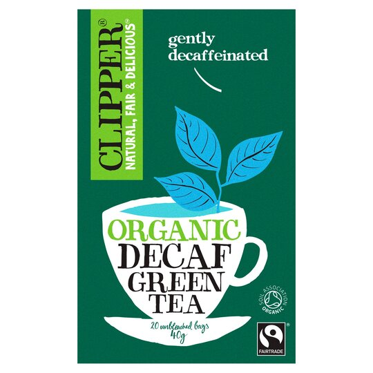 Clipper Organic Fair Trade Decaffeinated Green Tea 20S 40G