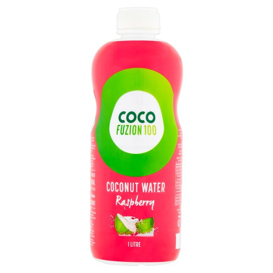 Coco Fuzion 100% C'nut Watr Raspberry 1 Litre Bottle