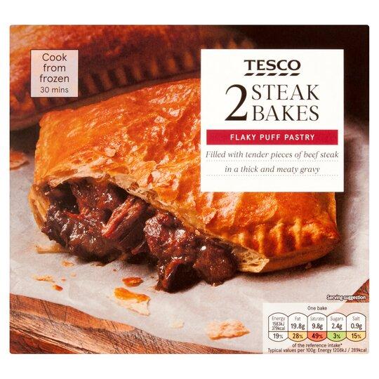 Tesco 2 Steak Bakes 280G - Tesco Groceries
