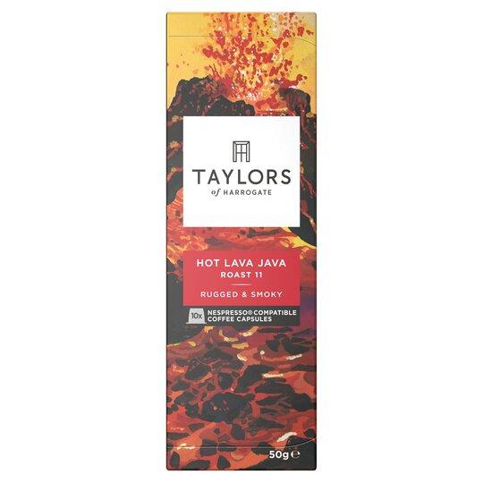 Taylors Hot Lava Java 10 Coffee Capsules 50G