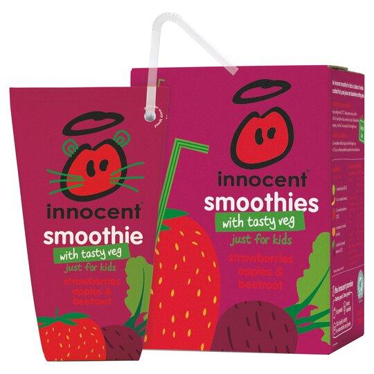 Innocent Strawberry Apple & Beetroot Smoothie 4X180ml