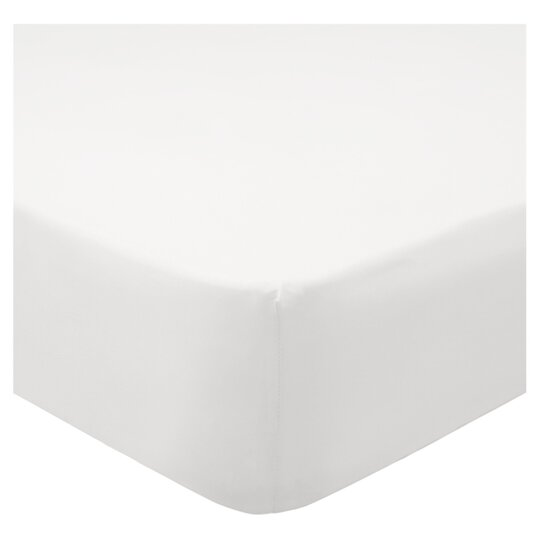 Tesco Cotton White King Size Fitted Sheet