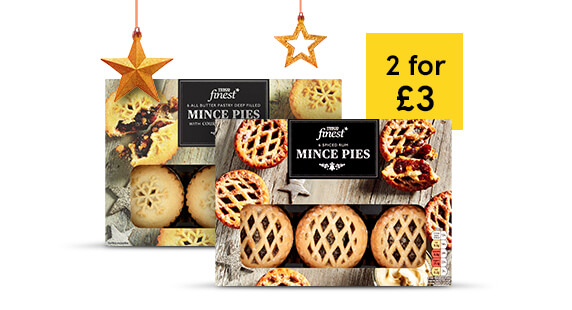 2 for £3 on Tesco Finest mince pies