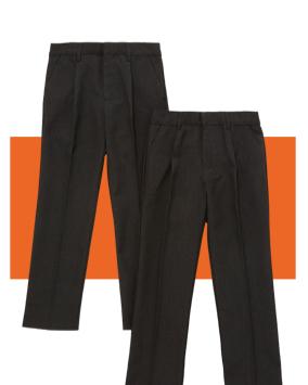 Boys' slim leg trousers 2 pack