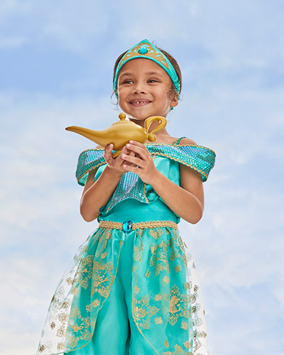 Turquoise Princess Jasmine outfit with matching headband