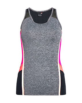 Grey, pink and black vest