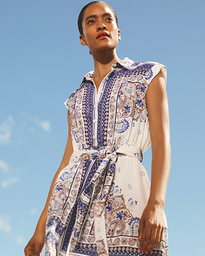 a56f7aab3d2 Paisley scarf print dress