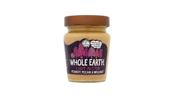 Whole Earth Peanut, Pecan & Walnut 3 Nut Butter 227G