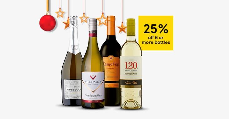 25% off 6 or more bottles