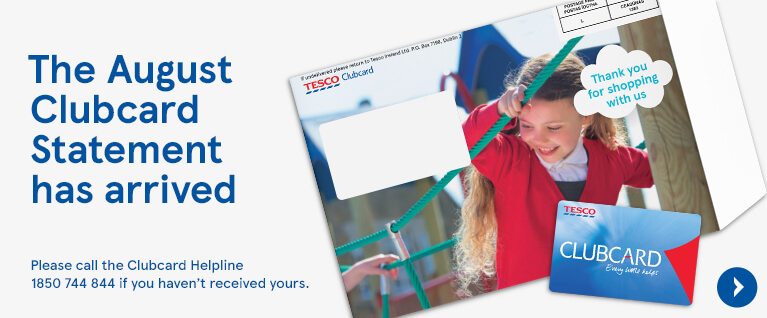 August Clubcard statement is arrived