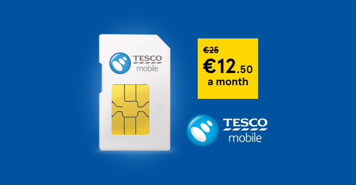 Get 15GB data, unlimited any network minutes and €5 bonus credit for just 15 euros with Tesco Mobile. Terms and conditions apply