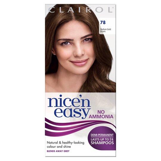 Nice'n Easy No Ammonia Medium Golden Brown 78 Hair Dye