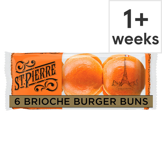 image 1 of St Pierre 6 Brioche Burger Buns