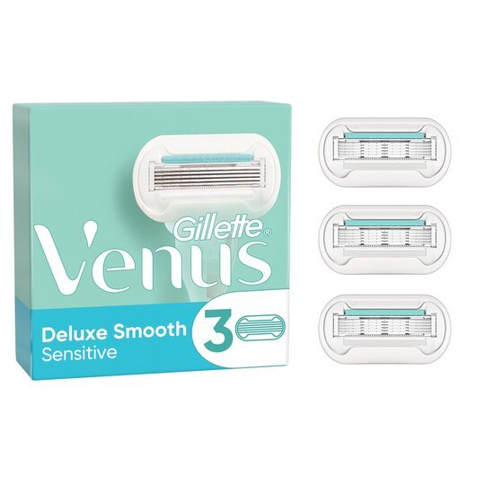 image 1 of Gillette Venus Deluxe Smooth Sensitive Blades 3 Pack