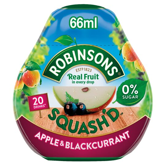 Robinsons Squash'd 66Ml Apple & Blackcurrant