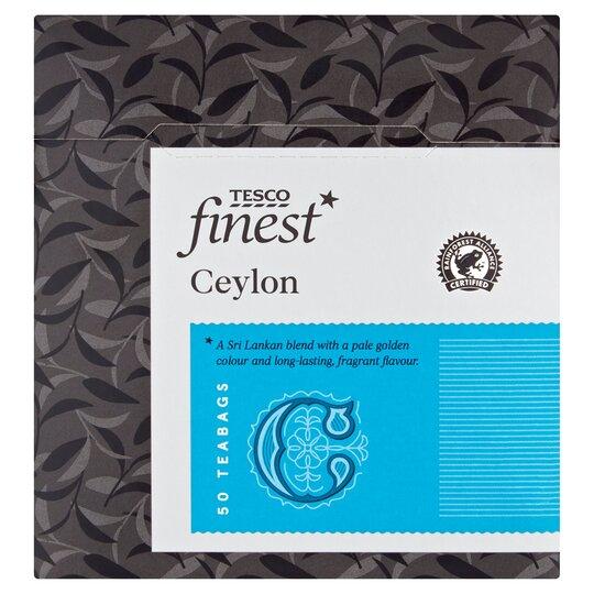 Tesco Finest Ceylon Teabags 50'S 125G