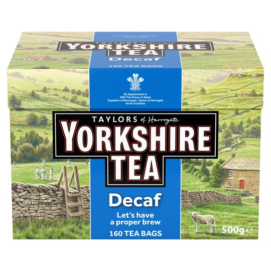 Yorkshire Decaffeinated Teabags 160S 500G