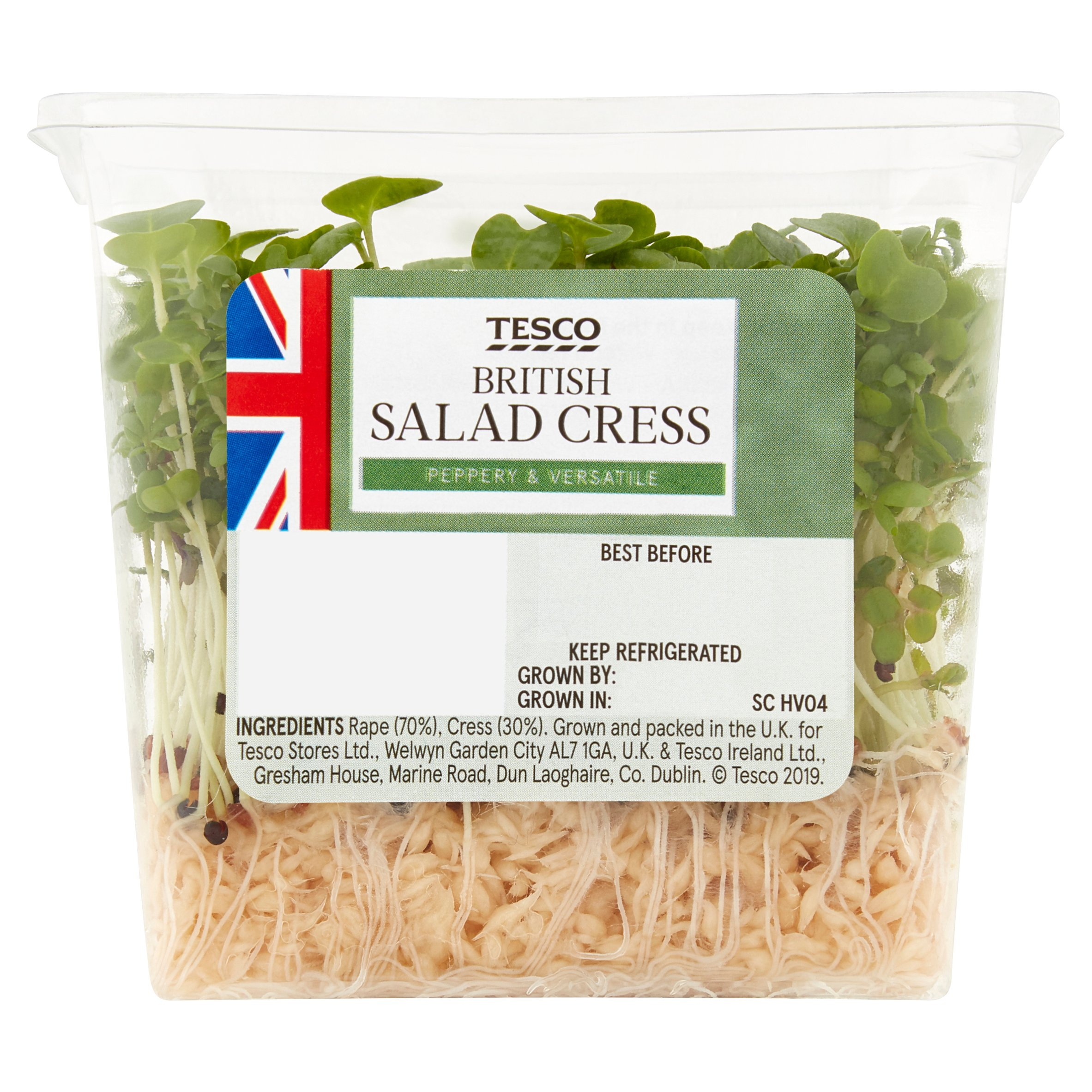 TESCO > Fresh Food > T.Growing Salad Cress Punnet Each