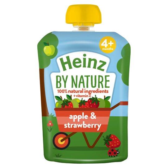 Heinz Fruit Pouch Apple & Strawberry 100G