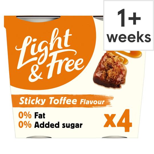 image 1 of Light & Free Greek Style Yogurt Sticky Toffee 4X115g