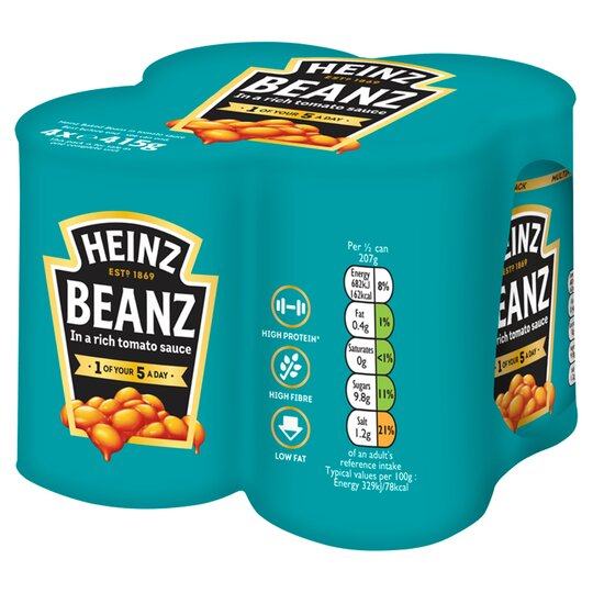 Heinz Baked Beans In Tomato Sauce 4X415g
