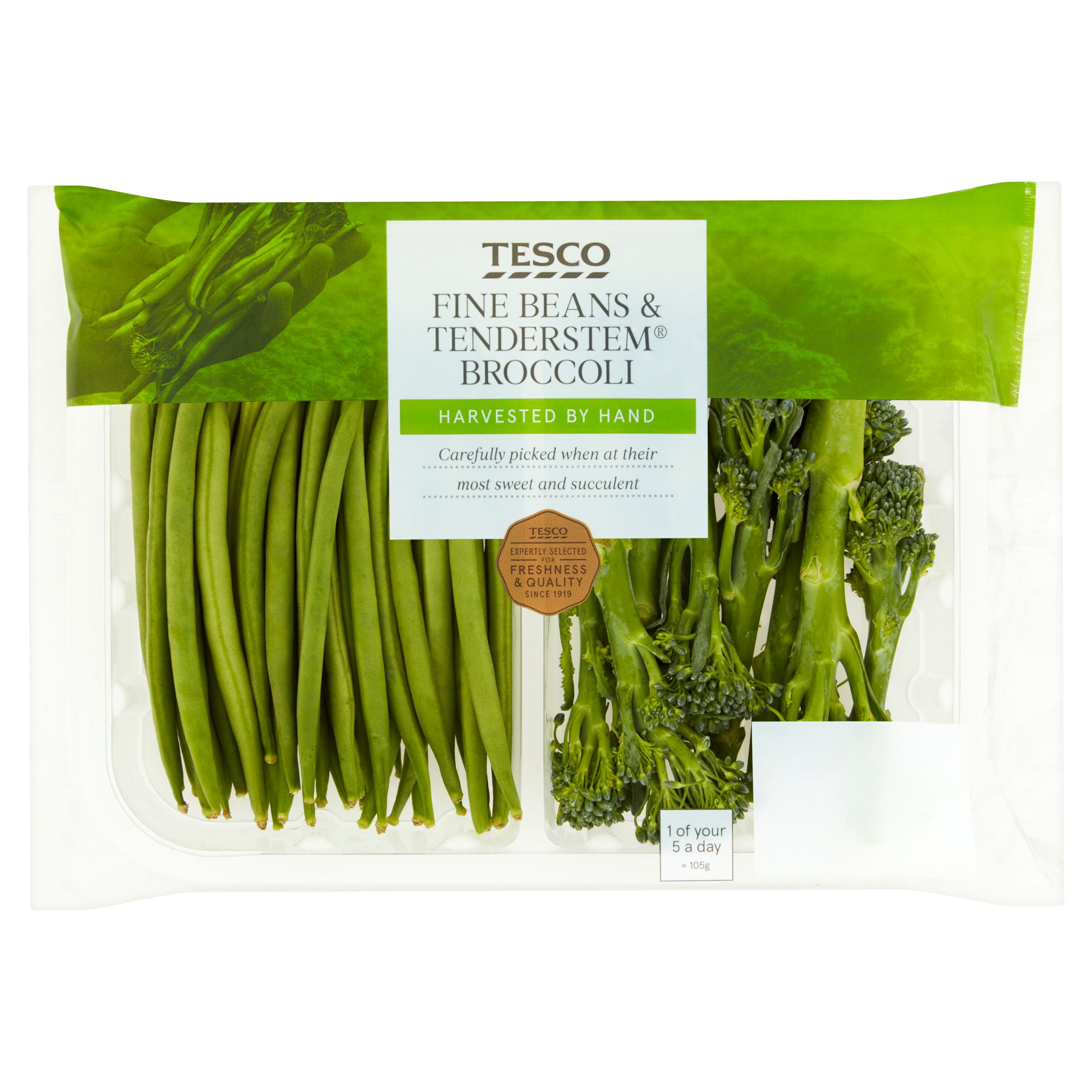 Tesco Fine Beans & Tenderstem Broccoli 210G