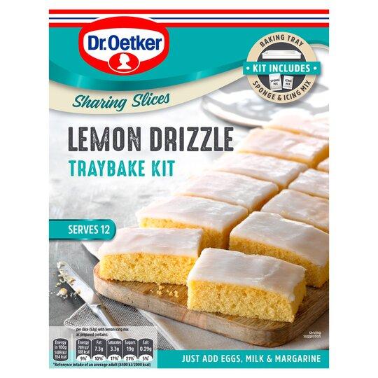 Dr Oetker Lemon Drizzle Traybake Kit 375G