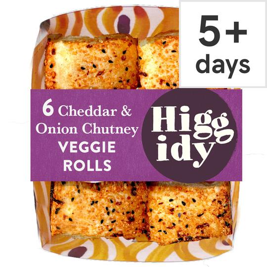 Higgidy Cheddar & Onion Veggie Rolls 160G