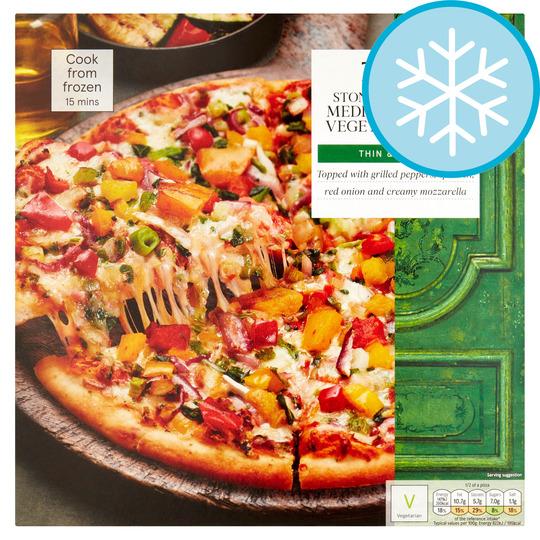 Tesco Stonebaked Mediterranean Vegetable Pizza 380g