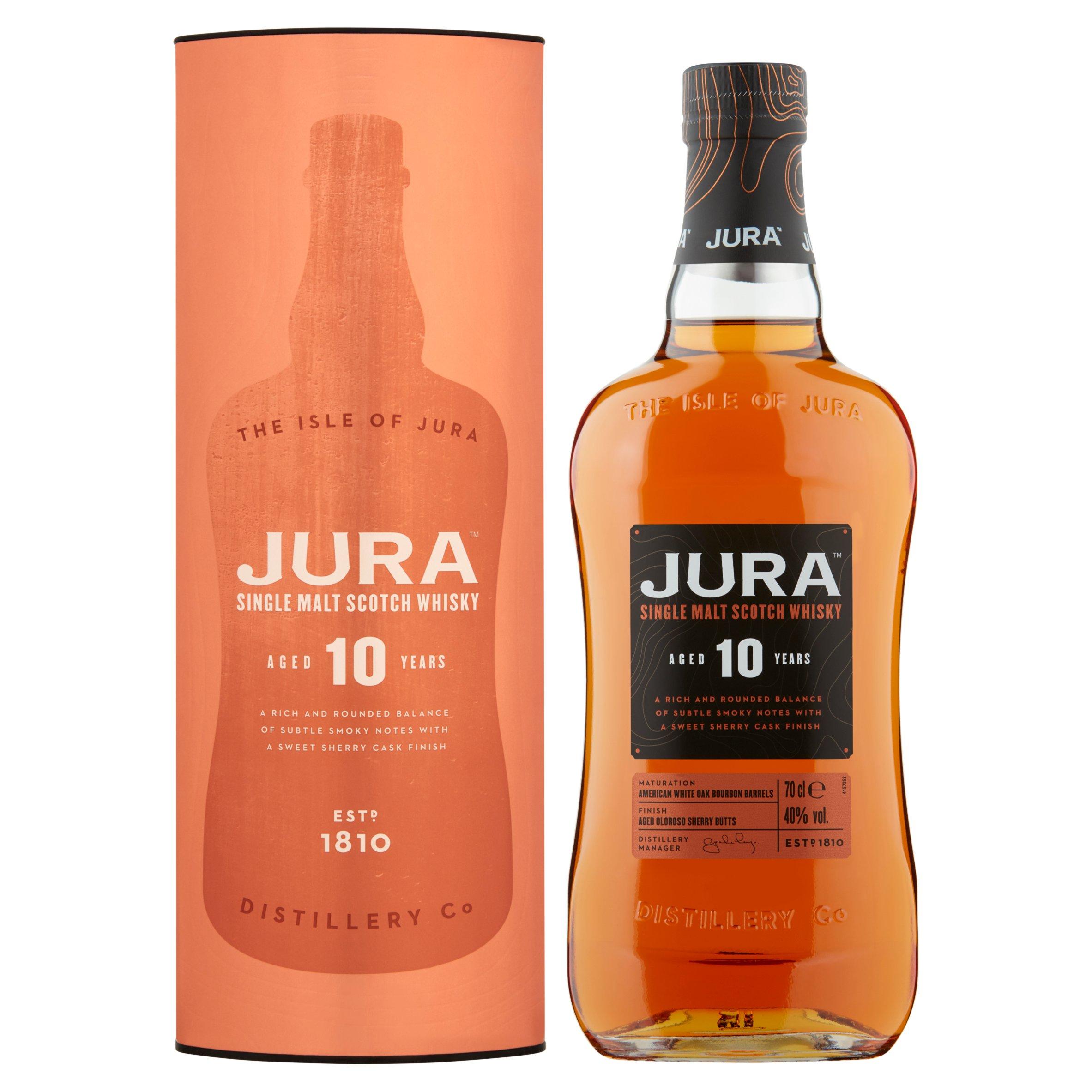 Jura 10 Year Old Malt Whisky 70Cl - Spicy