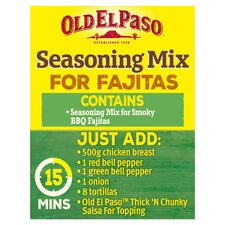 image 2 of Old El Paso Smoky Bbq Fajita Seasoning Mx 35G