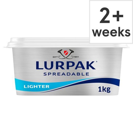 Lurpak Lighter Slightly Salted Spreadable 1Kg