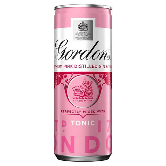Gordon's Pink Gin & Tonic Premix 250Ml