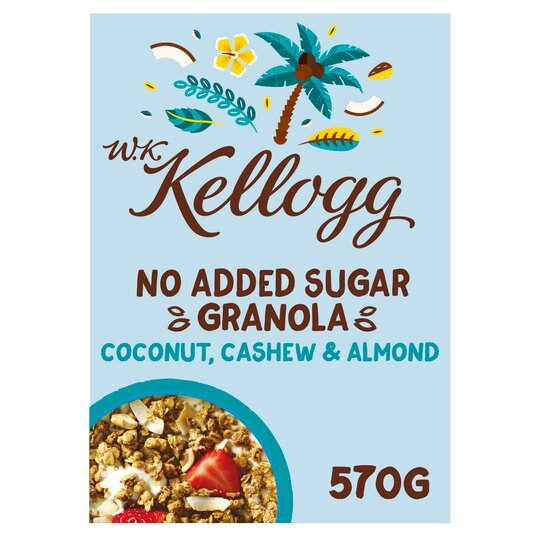 Wk Kellogg's No Added Sugar Coconut Granola 570G