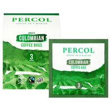 image 2 of Percol Fairtrade Colombian Coffee Bags 80G