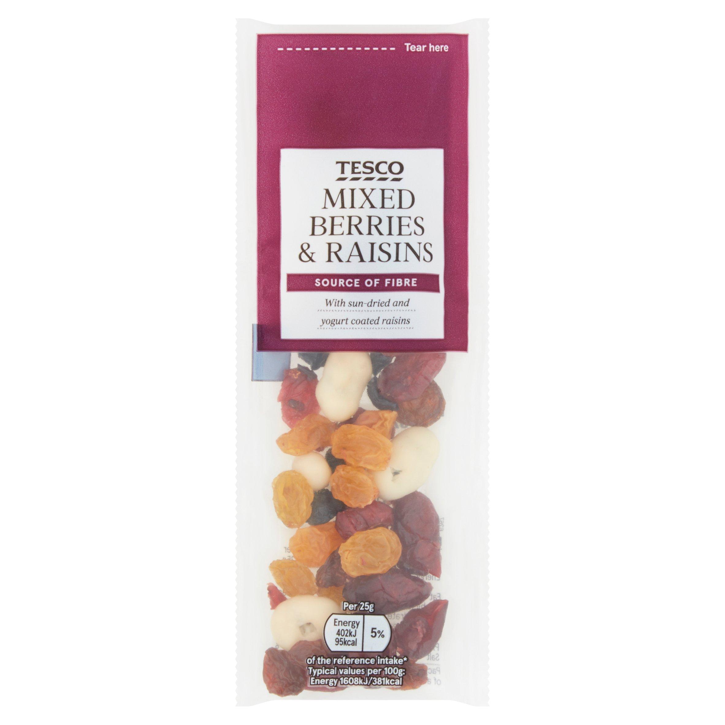 Tesco Mixed Berries 25G
