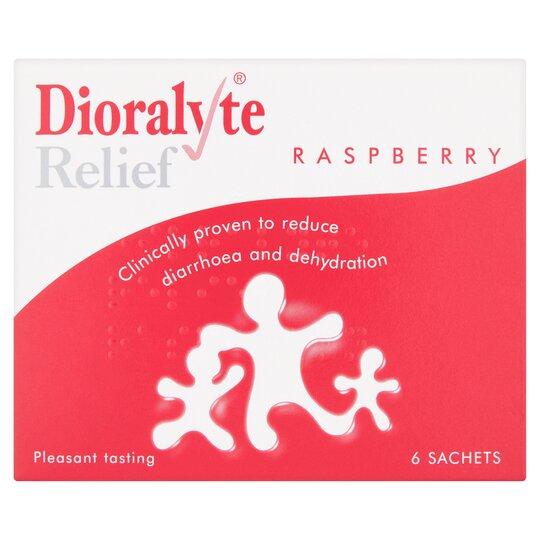 Dioralyte Relief Raspberry Sachets 6'S
