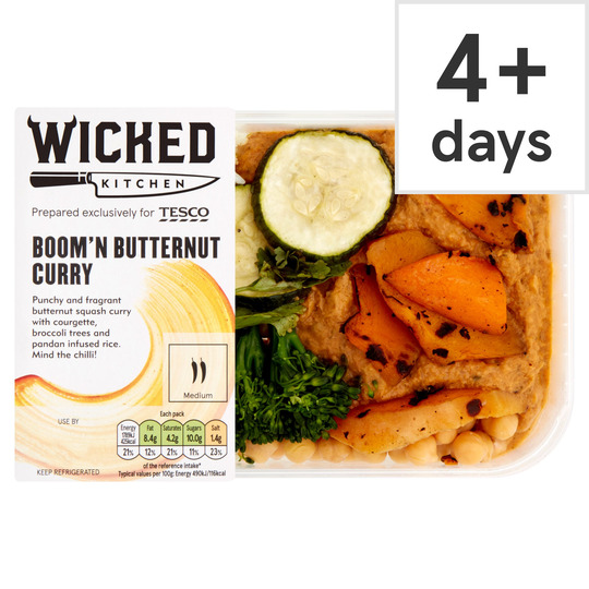 Wicked Kitchen Boom'n Butternut Curry 450G