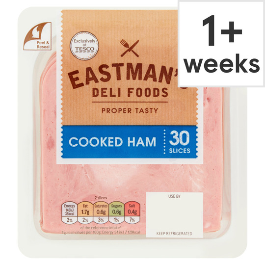 Eastman's Cooked Ham 30 Slices 400G