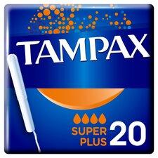 image 1 of Tampax Blue Box Super Plus 20