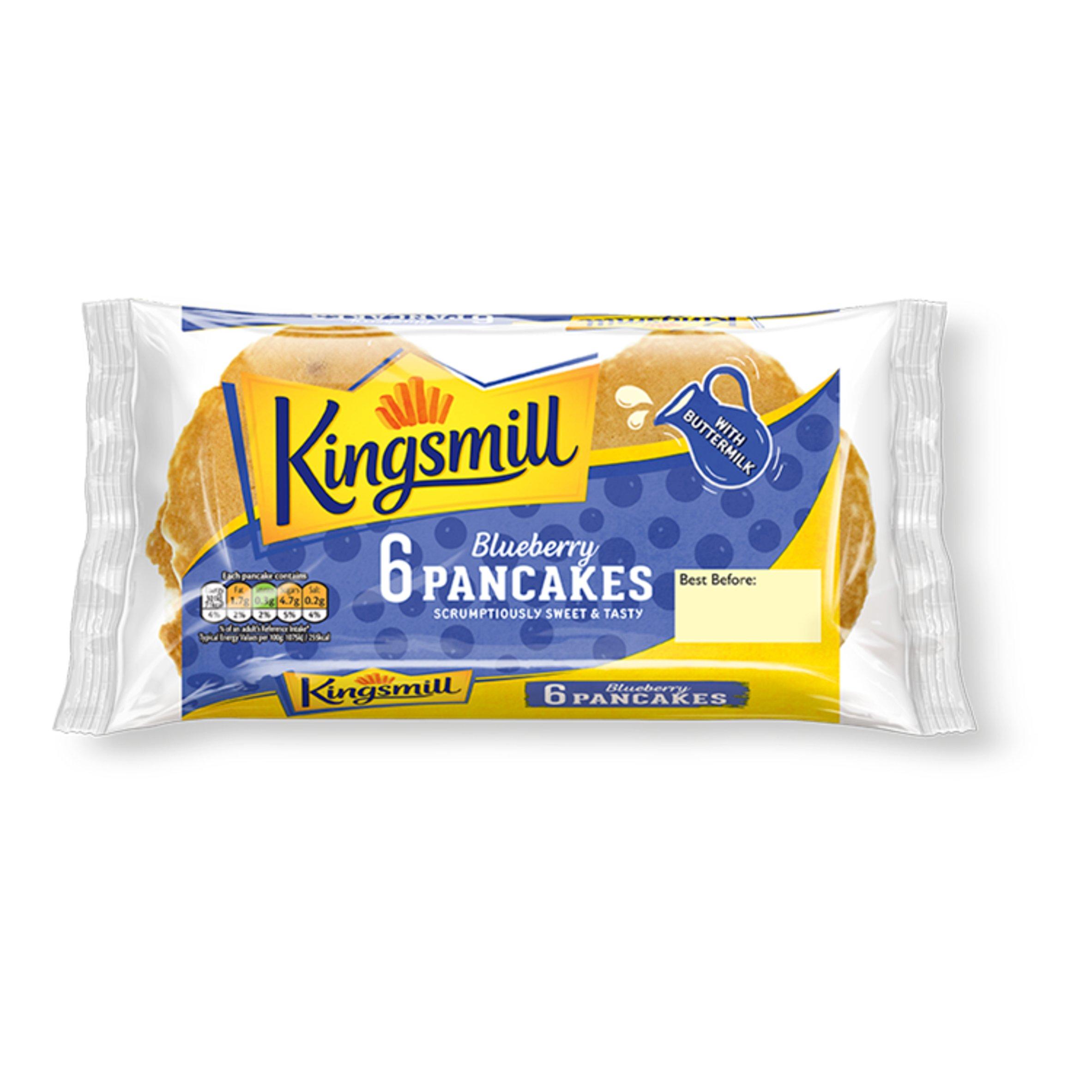 Kingsmill Blueberry Pancakes 6 Pack