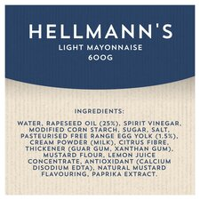 image 2 of Hellmann's Light Mayonnaise 600G Jar