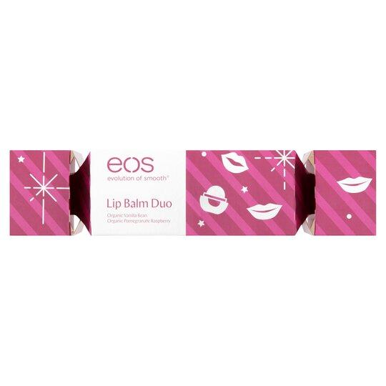 Eos Lip Balm Christmas Cracker Duo Set Tesco Groceries