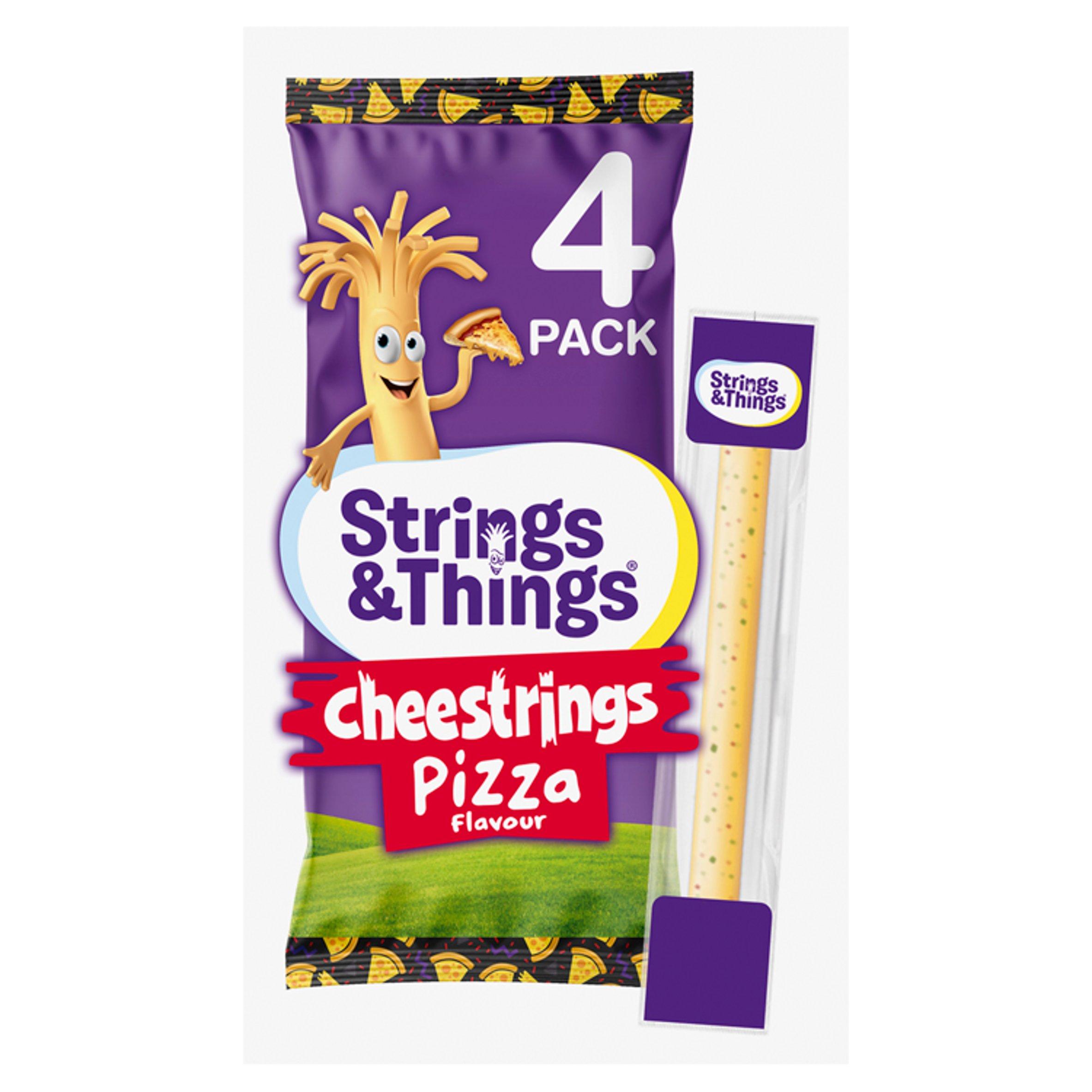 Strings & Things Cheestrings Pizza 4 Pack 80G