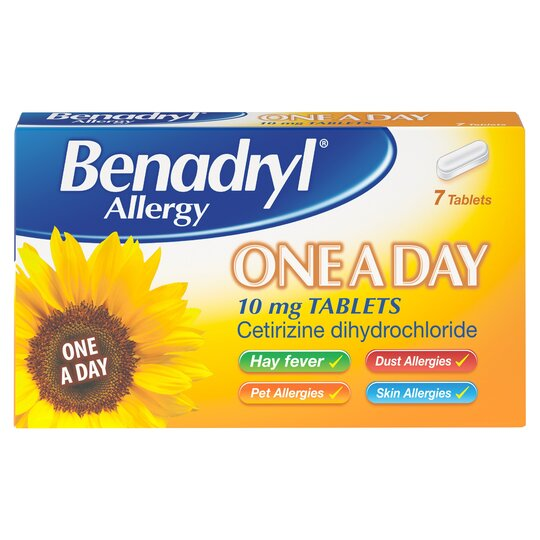 Benadryl Cetirizine 7'S